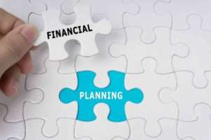 Financial planning puzzle piece